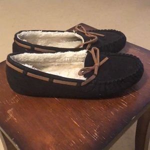 Shoes - Black and Brown Moccasins
